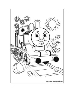 托马斯小火车填色图.doc