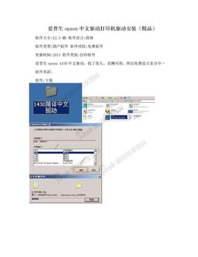 爱普生epson中文驱动打印机驱动安装(精品).doc