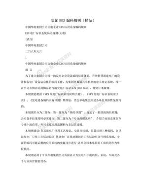 集团KKS编码规则(精品).doc