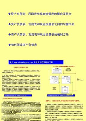 三大财务报表基本知识课件.ppt