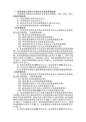 房屋建筑施工总承包企业资质等级标准.doc