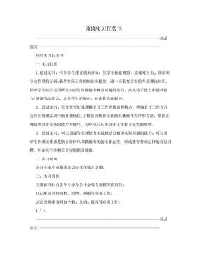 顶岗实习任务书.doc