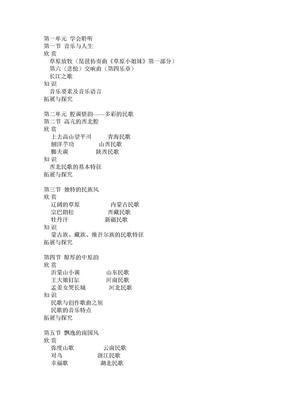 高中音乐教材目录.doc