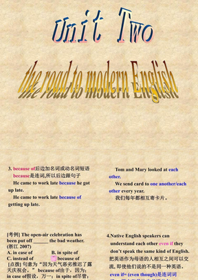 Reading 1: The road to Modern English.ppt