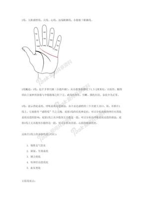 关于掌纹诊病.doc