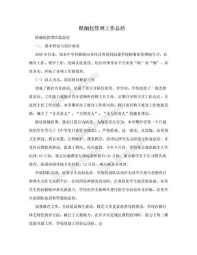 精细化管理工作总结.doc