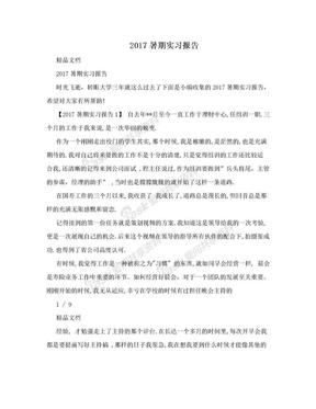 2017暑期实习报告.doc