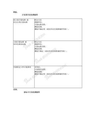 计量器具量值溯源图(模板及范例).doc