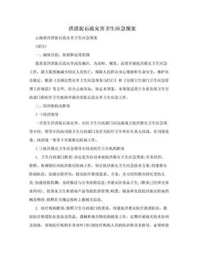 洪涝泥石流灾害卫生应急预案.doc