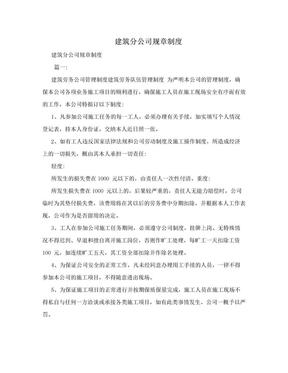 建筑分公司规章制度.doc