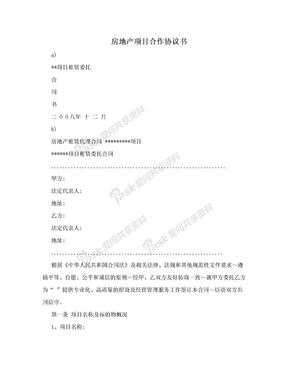 房地产项目合作协议书.doc