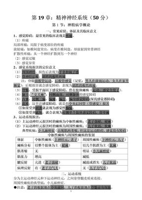 简单易记的执业医师考试资料:精神神经系统(用心记住考点,必定能过!).doc