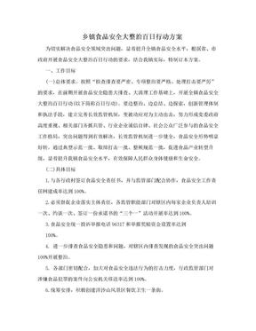 乡镇食品安全大整治百日行动方案.doc