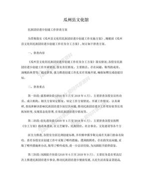 瓜州县文化馆民族团结进步创建工作督查方案.doc