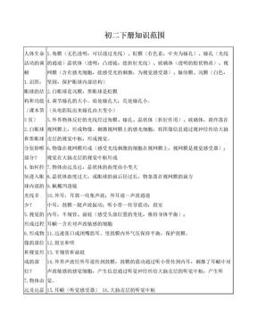 初二生物下册知识点.doc