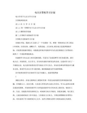 电大计算机学习计划.doc