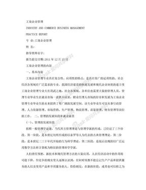 工商管理实习报告.doc