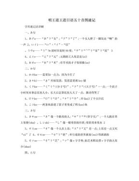 明王道王进日语五十音图速记.doc