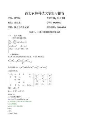 袁金龙15206012(二维问题的有限差分方法).doc