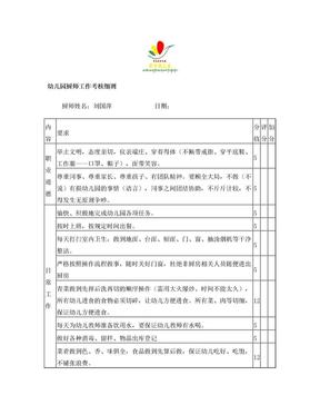 幼儿园厨师月工作考核细则.doc