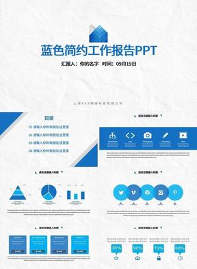蓝色简约工作报告PPT.pptx