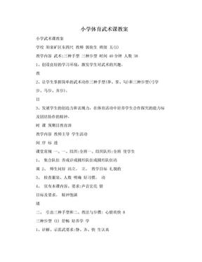 小学体育武术课教案.doc