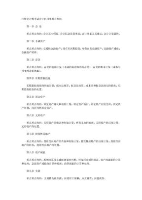 注册会计师考试会计科目重难点归纳.doc