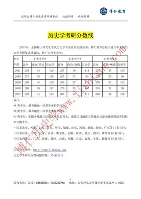 历史学考研分数线.doc