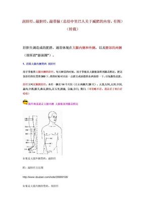 刮肝经、敲胆经、敲带脉(总结中里巴人关于减肥的内容).doc
