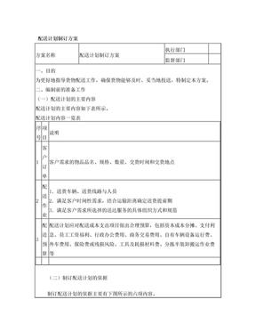 配送计划制订方案.doc