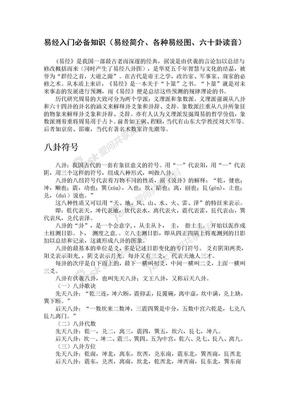 易经入门必备知识(易经简介、各种易经图、六十卦读音).doc