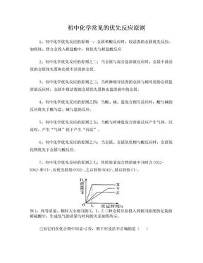 初中化学常见的优先反应原则.doc