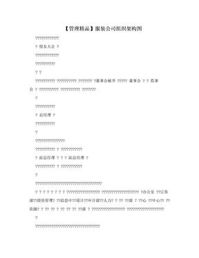 【管理精品】服装公司组织架构图.doc