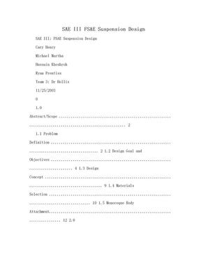 SAE III FSAE Suspension Design.doc