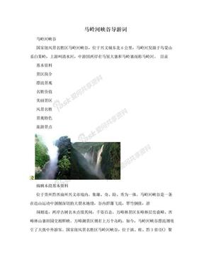 马岭河峡谷导游词.doc