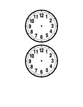 一年级数学钟面图片练习.doc