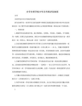 小学乡村学校少年宫考核评比制度.doc