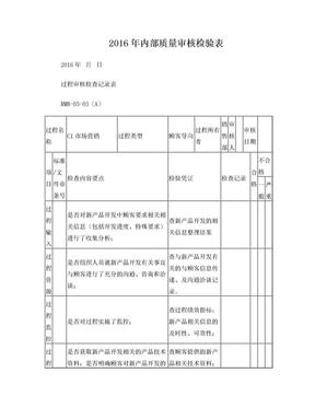 2016质量管理体系审核检查表.doc