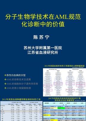 07陈苏宁 分子生物学技术在AML规范化诊断中的价值.ppt