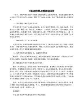 中学治理教育乱收费自查报告范文.docx