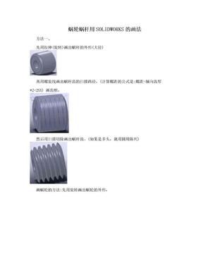 蜗轮蜗杆用SOLIDWORKS的画法.doc