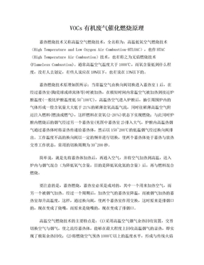VOCs有机废气催化燃烧原理.doc