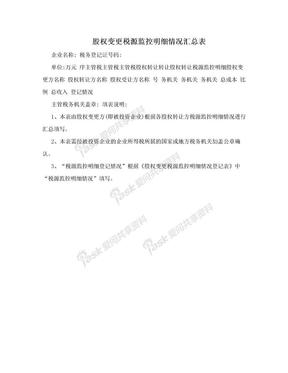 股权变更税源监控明细情况汇总表.doc