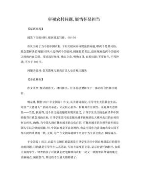 任务驱动型作文评析:中国农村问题作文.doc