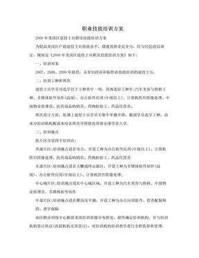 职业技能培训方案.doc