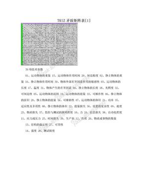 TRIZ矛盾矩阵表[1].doc