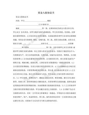 资金入股协议书.doc