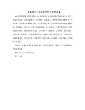 党小组关于预备党员转正意见范文.doc