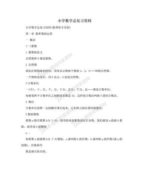小学数学总复习资料.doc