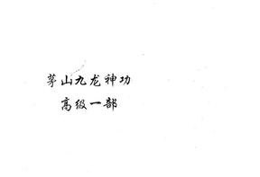 茅山九龙神功高1.pdf